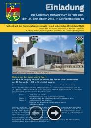 Einladung zur Landesarbeitstagung am 20.09.2018 in Kirchheimbolanden